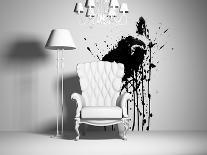 White And Black Armchairs-viczast-Art Print