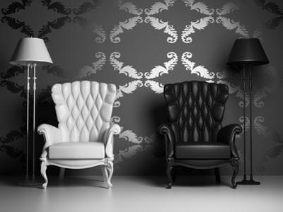 White And Black Armchairs by viczast
