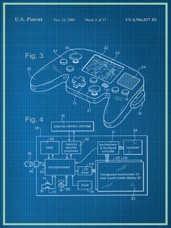 Video Game Controller Blueprint