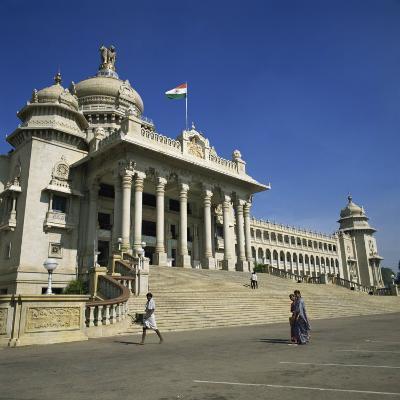 Vidhana Soudha, Bangalore, Karnataka State, India-Rolf Richardson-Photographic Print