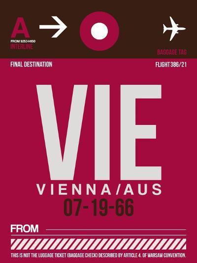 VIE Vienna Luggage Tag 2-NaxArt-Art Print
