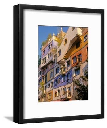 Vienna, Austria. Facade of Hundertwasserhaus, an apartment block designed by architect and artis...
