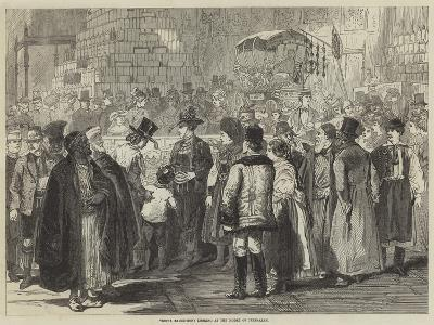 Vienna Exhibition, Looking at the Model of Jerusalem--Giclee Print