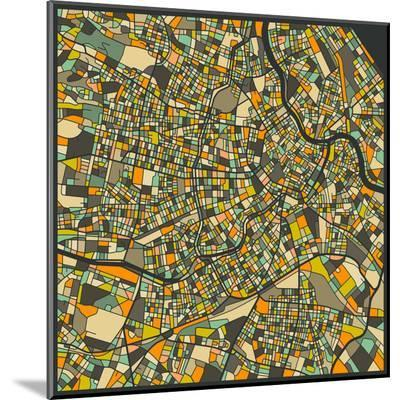 Vienna Map-Jazzberry Blue-Mounted Print