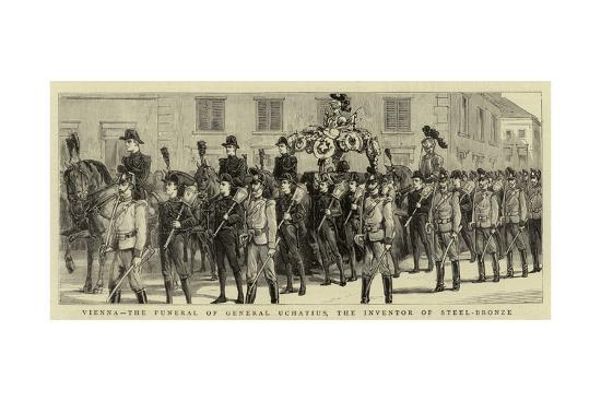 Vienna, the Funeral of General Uchatius, the Inventor of Steel-Bronze--Giclee Print