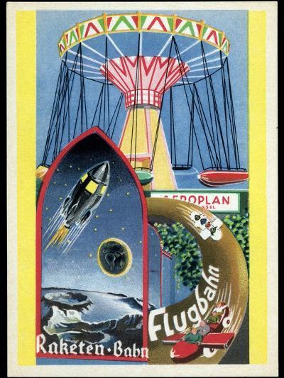 Viennese Fun Fair, Historical Post Card-Detlev Van Ravenswaay-Photographic Print