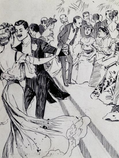 Viennese Waltz, Ink Drawing, Austria, Detail--Giclee Print