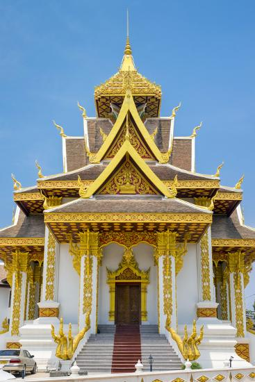 Vientiane City Pillar Shrine, Vientiane, Laos, Indochina, Southeast Asia, Asia-Jason Langley-Photographic Print
