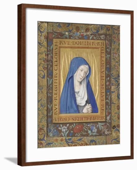 Vierge en prière-Jean Bourdichon-Framed Giclee Print