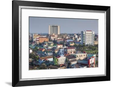 Vietnam, Dmz Area. Dong Ha, Elevated City View-Walter Bibikow-Framed Photographic Print
