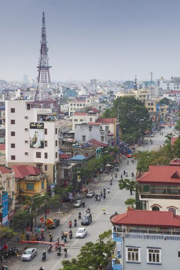 Vietnam, Haiphong, Elevated City View-Walter Bibikow-Photographic Print