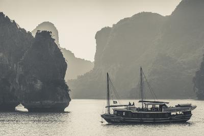 Vietnam, Halong Bay, Boat Traffic-Walter Bibikow-Photographic Print