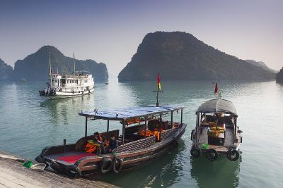 Vietnam, Halong Bay, Tito Island, Water Taxis-Walter Bibikow-Photographic Print