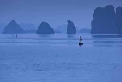 Vietnam, Halong City, Halong Bay Rocks, Dusk-Walter Bibikow-Photographic Print