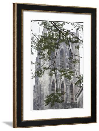 Vietnam, Hanoi. St. Joseph Cathedral, Exterior-Walter Bibikow-Framed Photographic Print