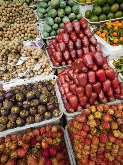 Vietnam, Ho Chi Minh City, Ben Thanh Market, Fruit Display-Steve Vidler-Photographic Print