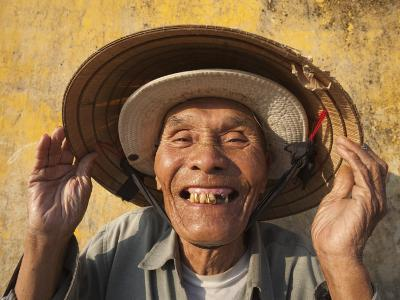 Vietnam, Hoi An, Portrait of Elderly Fisherman-Steve Vidler-Photographic Print
