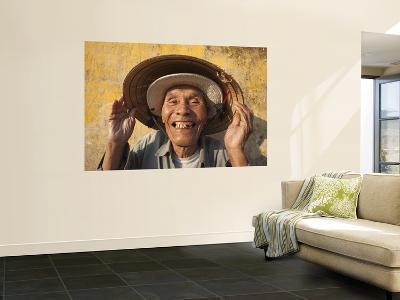 Vietnam, Hoi An, Portrait of Elderly Fisherman-Steve Vidler-Giant Art Print