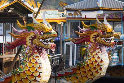 Vietnam, Hue. Dragon Excursion Boats, Perfume River-Walter Bibikow-Photographic Print