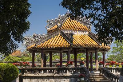 Vietnam, Hue Imperial City. Ruins of the Purple Forbidden City, Garden Gazebo-Walter Bibikow-Photographic Print