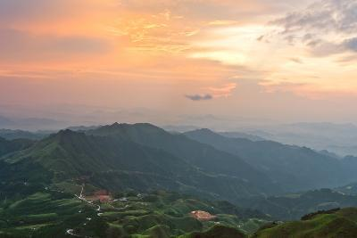 Vietnam Landscape at Sunset-Long Hoang-Photographic Print