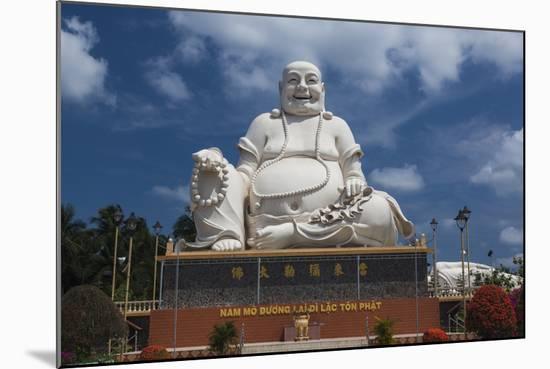 Vietnam, Mekong Delta. My Tho, Vinh Trang Pagoda, Giant Sitting Buddha Statue-Walter Bibikow-Mounted Photographic Print