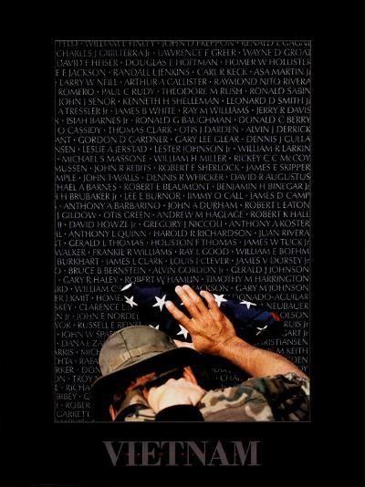 Vietnam Memory Wall-Peter Marlow-Art Print