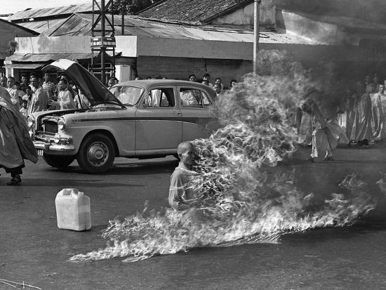 Vietnam Monk Protest-Malcolm Browne-Photographic Print