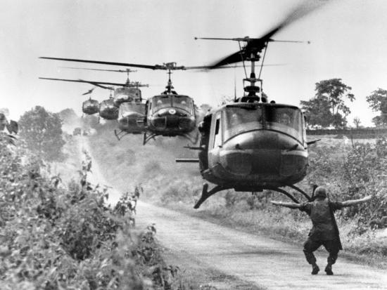 Vietnam War US Helicopters Photographic Print by Horst Faas   Art com