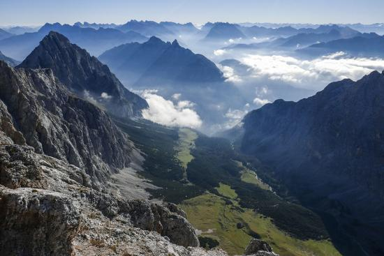 View About Puittal on Karwendel in the Early Morning Haze-Rolf Roeckl-Photographic Print