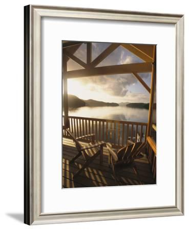 View Across Barnard Harbour From the King Pacific Lodge-Richard Nowitz-Framed Photographic Print