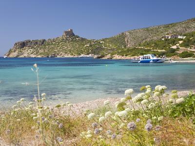 View across Bay to the Castle, Cabrera Island, Cabrera Archipelago National Park, Mallorca, Baleari-Ruth Tomlinson-Photographic Print