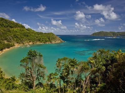View across Blue Water Bay Toward the Caribbean Sea-Michael Melford-Photographic Print