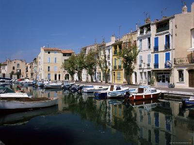 View Across Canal to Colourful Houses, Martigues, Bouches-Du-Rhone, Provence, France-Ruth Tomlinson-Photographic Print