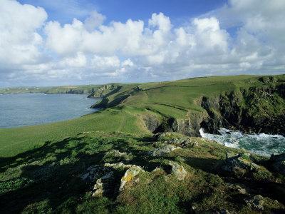 View Across Pentire Head to Coastline Near Polzeath, Cornwall, England, United Kingdom-Lee Frost-Photographic Print
