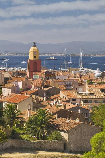 View across St.-Tropez from Citadelle-Jon Hicks-Photographic Print