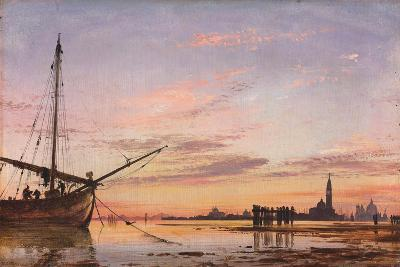 View across the Lagoon, Venice, Sunset, 1850-Edward William Cooke-Giclee Print