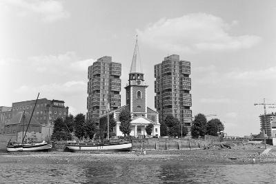 View across the Thames at Battersea. 21st August 1971-Staff-Photographic Print