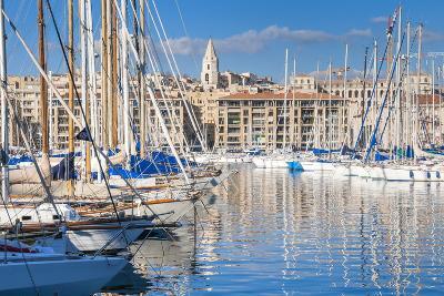 View across the Vieux Port-Nico Tondini-Photographic Print