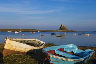 View across Water and Boats to Lindisfarne Castle on Holy Island-Design Pics Inc-Photographic Print
