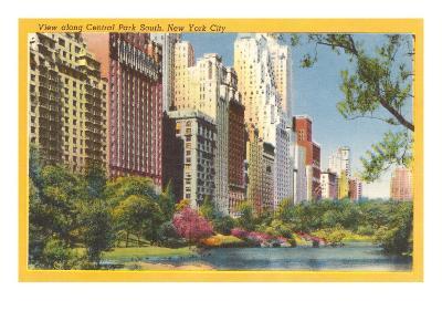 View along Central Park South, New York City--Art Print