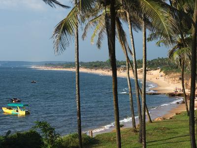 View Along Sinquerim Beach, Fort Aguada, Goa, India, Asia-Stuart Black-Photographic Print