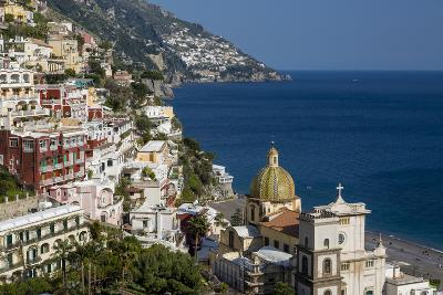 View Along the Amalfi Coast of the Town of Positano, Campania Italy-Brian Jannsen-Photographic Print