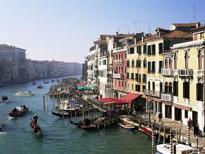View Along the Grand Canal from Rialto Bridge, Venice, Unesco World Heritage Site, Veneto, Italy-Lee Frost-Photographic Print