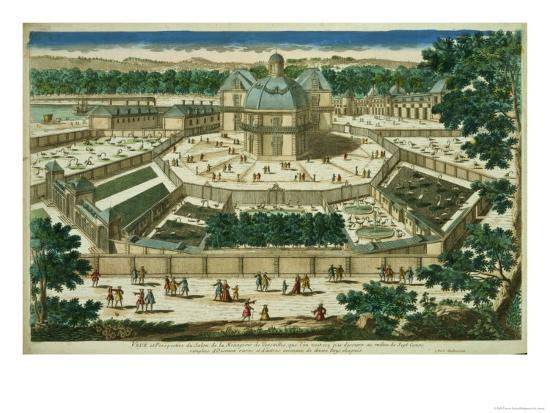 View and Perspective of the Salon De La Menagerie at Versailles--Giclee Print