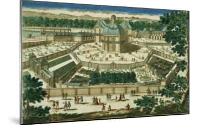 View and Perspective of the Salon De La Menagerie at Versailles--Mounted Giclee Print