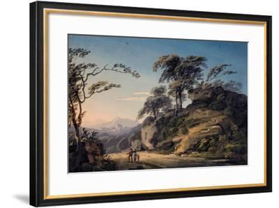 View at Barberi Mile, Near Linton, North Devon-Paul Sandby-Framed Giclee Print