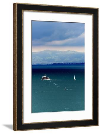 View at Lake of Constance, uberlinger Lake with Meersburg, Baden-Wurttemberg, Germany-Ernst Wrba-Framed Photographic Print