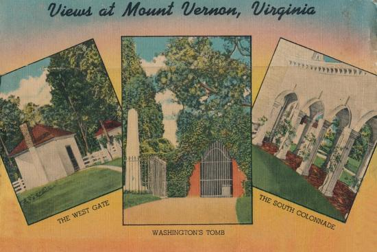 'View at Mount Vernon, Virginia', 1946-Unknown-Giclee Print