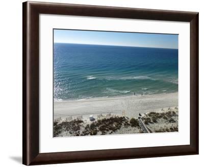 View at Pensacola Beach, Florida. November 2014.-NicholasGeraldinePhotos-Framed Photographic Print